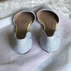 GAP Shoes - GAP Gray Pointy Toe Flats